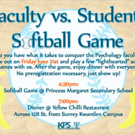 June 21 2013 Faculty vs Students softbal