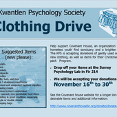 KPS Covenant House Clothing Drive Nov 16