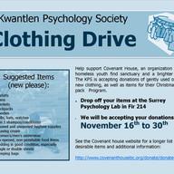 KPS Covenant House Clothing Drive Nov 16