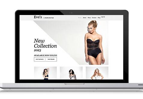 Abbigliamento intimo Web Design
