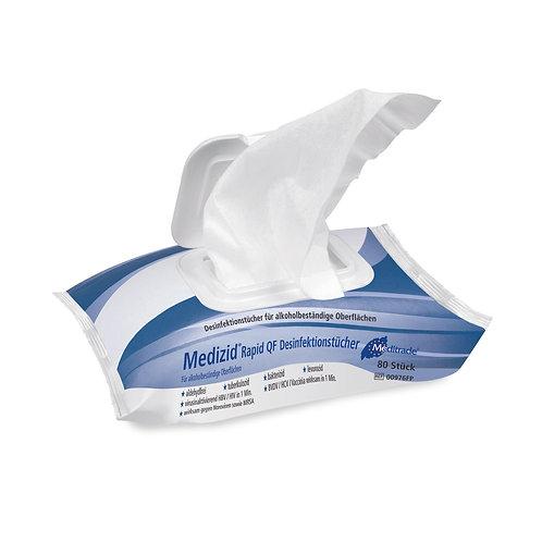 Desinfektionstücher QF Flowpack 220x200mm Medizid Rapid Aldehydfrei