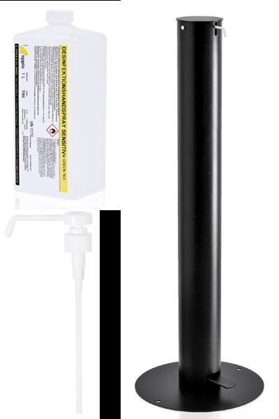 Starter-Paket Desinfektionssäule mit Fußpedal
