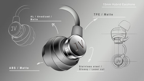 15mm hybrid earphone