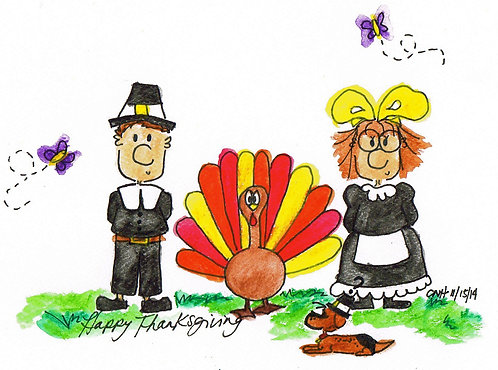 """""""Happy Thanksgiving"""" Greeting Card"""