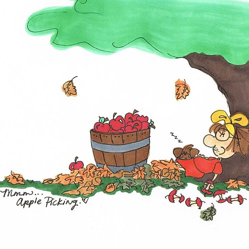 """Apple Picking"" Greeting Card"