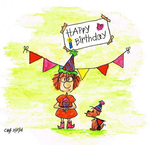 """Happy Birthday"" Greeting Card"