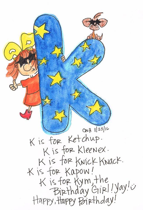 """""""K is for..."""" Greeting Card"""