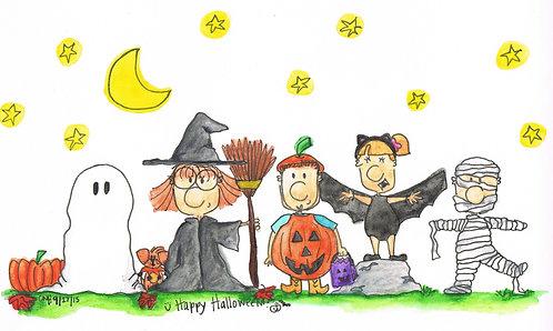 """Happy Halloween"" Greeting Card"