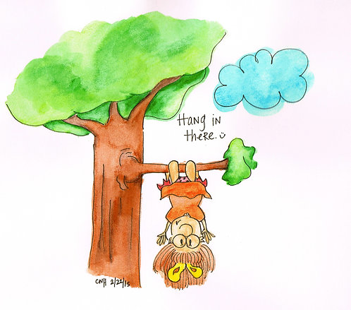 """Hang in There"" Greeting Card"