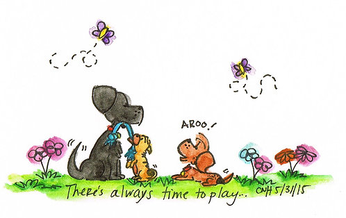 """Time to Play"" Greeting Card"