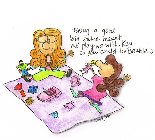 """Being a Big Sister"" Greeting Card"