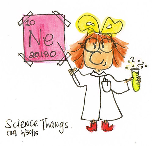 """Science Thangs"" Greeting Card"