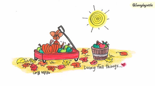 """Doing Fall Things"" Greeting Card"