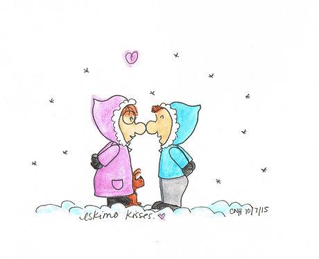 """Eskimo Kisses"" Greeting Card"