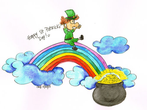 """""""Happy St. Patrick's Day"""" Greeting Card"""