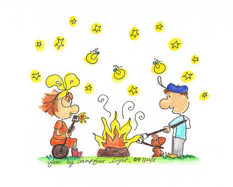 """Fun by the Campfire"" Greeting Card"