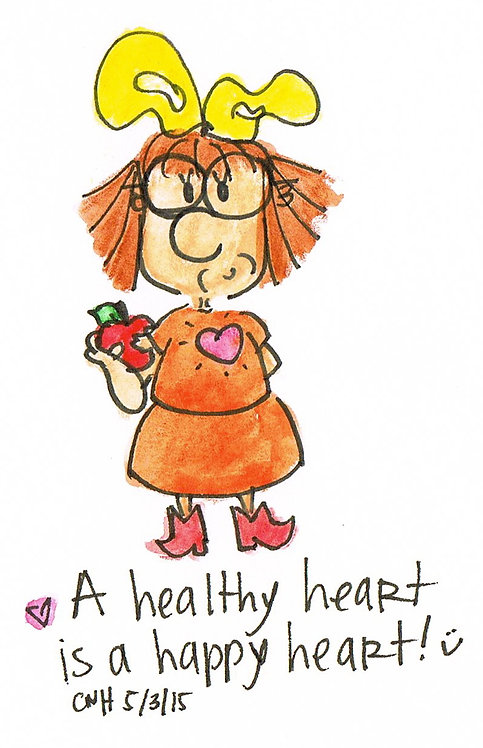 """Healthy Heart Happy Heart"" Greeting Card"
