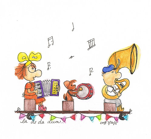 """""""Marching Band"""" Greeting Card"""