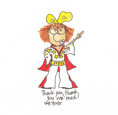 """Thank You Very Much"" Greeting Card"