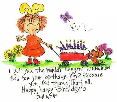 Cinnamon Roll Birthday {Archival Print}