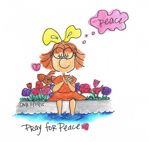 """Pray for Peace"" Greeting Card"