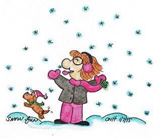 """""""Snow Fun"""" Greeting Card"""