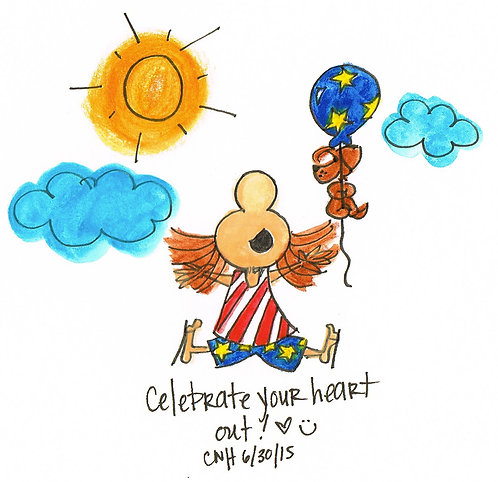 """Celebrate Your Heart Out"" Greeting Card"