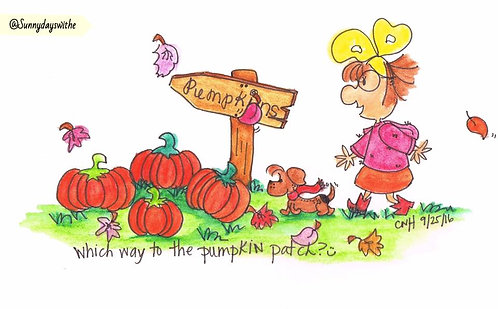 """""""To the Pumpkin Patch"""" Greeting Card"""