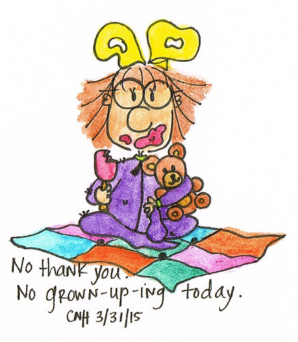"""No Grown Upping"" Greeting Card"
