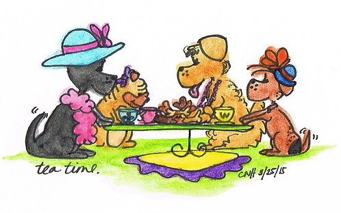 """Tea Time"" Greeting Card"