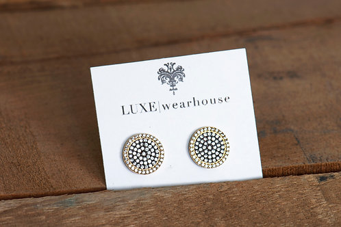 PAVE DISC EARRING