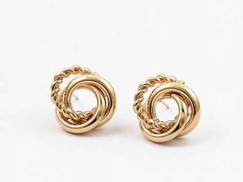 TEXTURE KNOT STATEMENT EARRING
