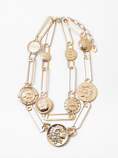 PAPER CLIP COIN NECKLACE