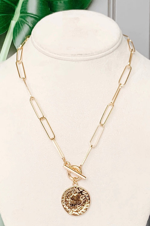 COINED CHAIN NECKLACE