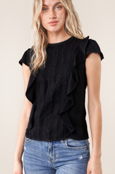 SANTEE LACE INSET TOP