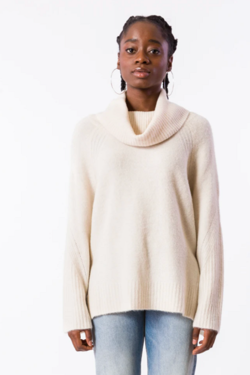 ZELLA TUNIC TURTLENECK SWEATER