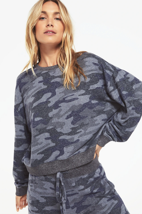 MARLED CAMO PULLOVER