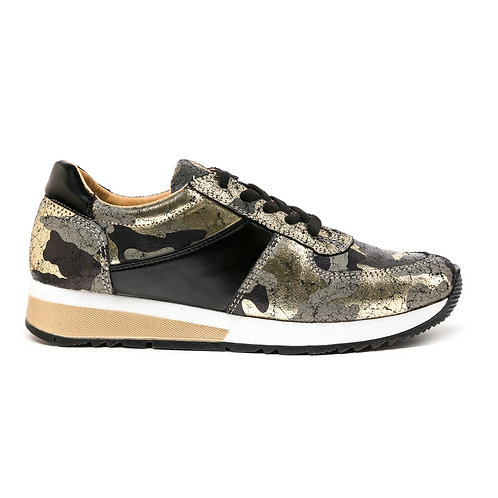 HOLLY LEATHER CAMO SNEAKER