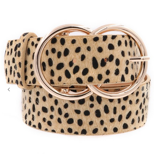 ANIMAL PRINT DOUBLE RING BELT