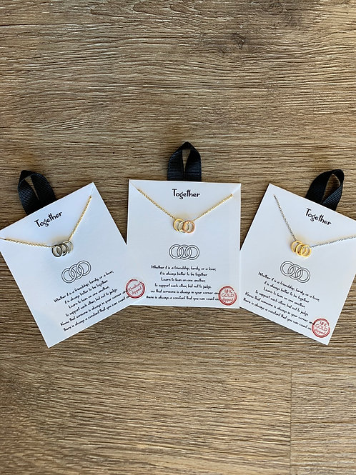 TOGETHER INSPIRED NECKLACE CARDS