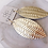 Thumbnail: CECELIA TEXTURE FEATHER LEATHER EARRING