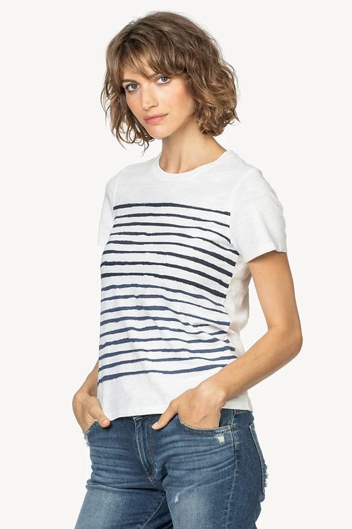 SHORT SLEEVE STRIPE DETAIL TEE