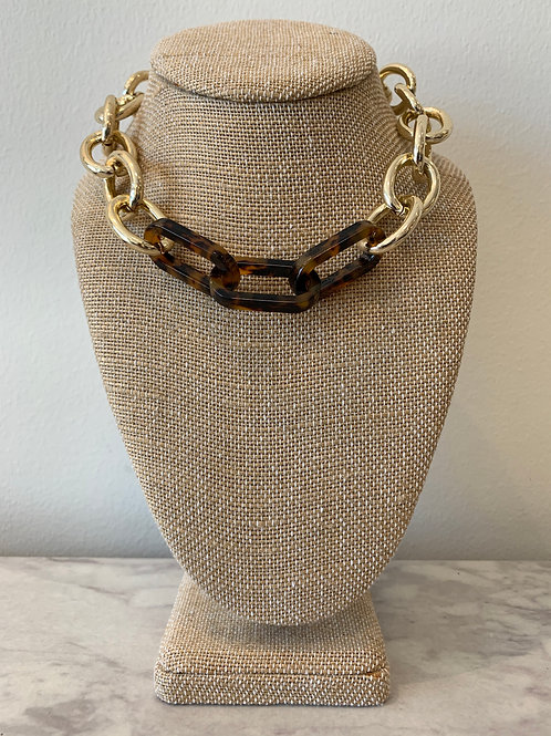 GOLD LINK W/TORTOISE NECKLACE