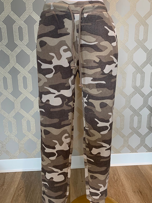 CAMO THERMAL JOGGERS
