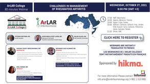 ArLAR College Webinar - October 27