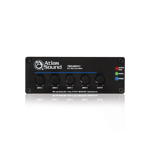 AtlasIED Mix/Line Mixer (TSD-MIX41) (No Stock)
