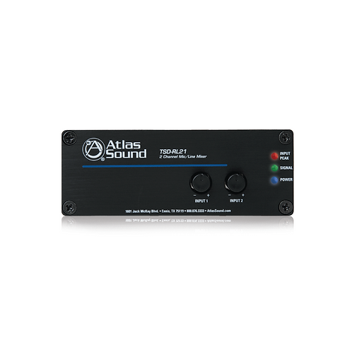 AtlasIED Two Channel Mixer (TSD-RL21) (No Stock)