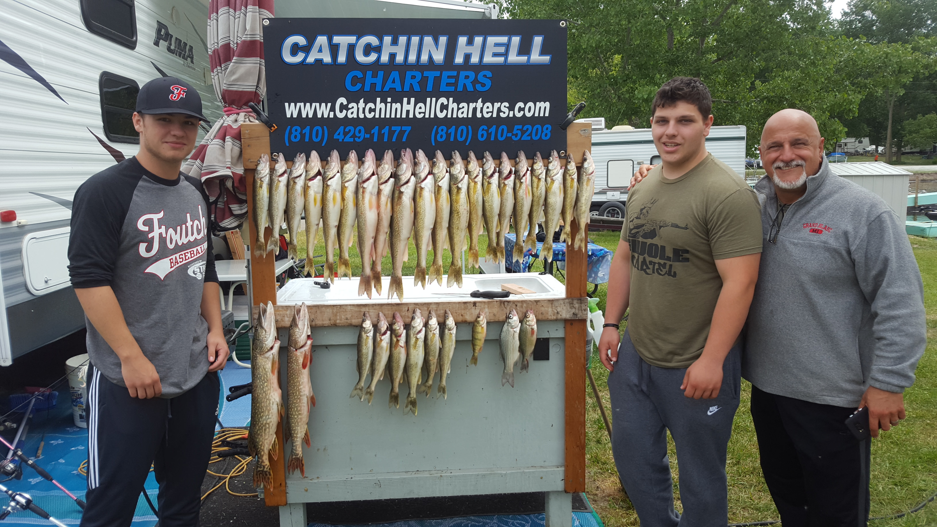 Limit of walleye from the Saginaw Bay