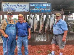 Mark and the guys with a successful salmon charter