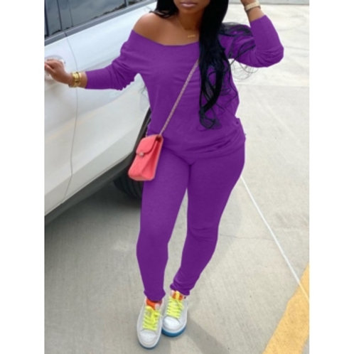 Casual Two Piece Pants Set